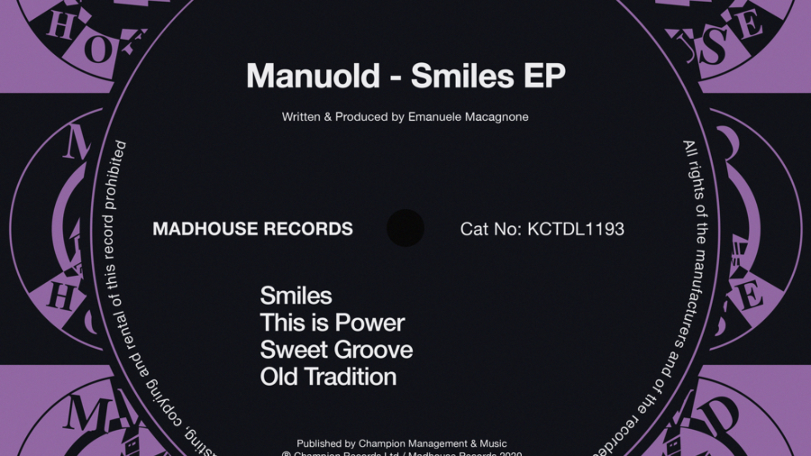 KCT1193 - Manuold - Smiles EP - Digital Artwork